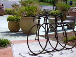 Bike rack at Coconut Point